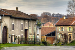 Historical street in Avioth, France Stock Images