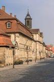 Historical street - Bayreuth old town Stock Photos