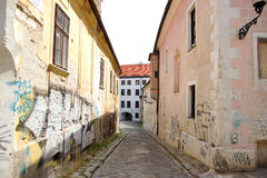Historical Street in Center Stock Photography