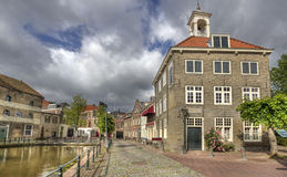 Historical street in Holland Royalty Free Stock Photo