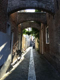 Historical street in Kampen Stock Photography