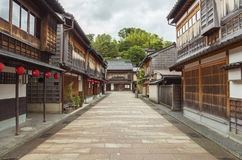 Historical street in Kanazawa, Japan Royalty Free Stock Photos