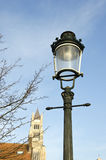 Historical street lamp in Brugge Royalty Free Stock Photography