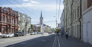Historical street named after Kuibyshev in Samara, Russia. On a Sunny summer day. May 23, 2019 royalty free stock photography