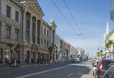 Historical street named after Kuibyshev in Samara, Russia. On a Sunny summer day. May 23, 2019 royalty free stock photos