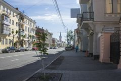 Historical street named after Kuibyshev in Samara, Russia. On a Sunny summer day. May 23, 2019 stock photography