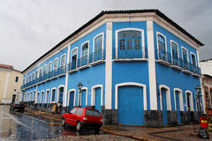 Historical Street in Sao Luis do Maranhao Royalty Free Stock Images