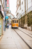Porto, Portugal - 08 July 2017. Historical city street tram in day light Porto, Portugal Stock Photos