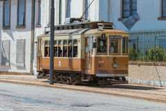 Historical street tram in Porto, Portugal, 23. may 2014 Royalty Free Stock Photo