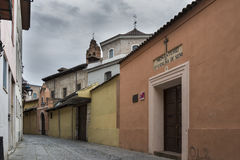 Historical street of Valladolid Spain Stock Photo