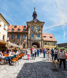 Historical Streets of Bamberg in Bavaria, Germany Stock Photo