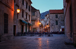 Historical Streets of Small Coastal Town Royalty Free Stock Photo