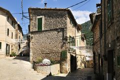 Historical Streets in Valldemosa Stock Photo