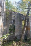 Historical Structure at Plan Bouchard Ruines Stock Image