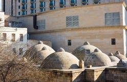 Historical structures in Baku city Stock Photos