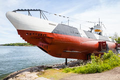 Historical submarine Vesikko from WWII period, Helsinki Royalty Free Stock Photo