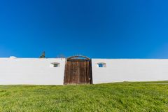 The historical Sutter's Fort State Historic Park. At Sacramento, California royalty free stock photos