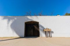 The historical Sutter's Fort State Historic Park. At Sacramento, California stock photos