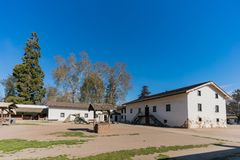 The historical Sutter's Fort State Historic Park. At Sacramento, California stock images