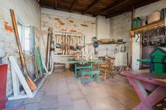 The historical Sutter's Fort State Historic Park. Sacramento, FEB 22: The historical Sutter's Fort State Historic Park on FEB 22, 2018 at Sacramento, California royalty free stock photo