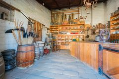 The historical Sutter's Fort State Historic Park. Sacramento, FEB 22: The historical Sutter's Fort State Historic Park on FEB 22, 2018 at Sacramento, California stock photography