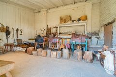 The historical Sutter's Fort State Historic Park. Sacramento, FEB 22: The historical Sutter's Fort State Historic Park on FEB 22, 2018 at Sacramento, California stock photos