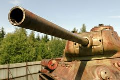 Historical T34 tank. In the museum Royalty Free Stock Photo