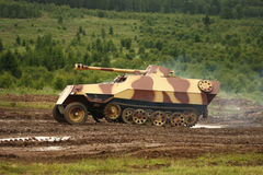 Historical tank. From time of 2nd World War Royalty Free Stock Photo