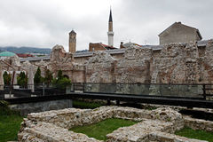 Historical Taslihan ruins, Sarajevo, Bosnia and Herze Royalty Free Stock Photos