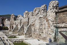 Historical Taslihan ruins, Sarajevo Stock Photo
