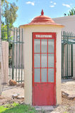 Historical telephone booth Stock Photo