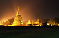 The historical temple in Ayutthaya, Thailand Royalty Free Stock Image