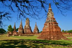 Historical temple in Ayutthaya thailand, Asia. Old building temple in Ayutthaya thailand, Asia Stock Photos