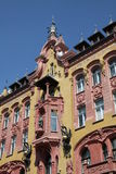 Historical tenement. Old tenement in Lodz, Poland, after renovation Royalty Free Stock Photo