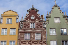Historical tenement house - Gdansk, Poland Stock Image