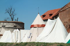Historical tents Stock Photos