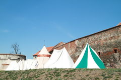 Historical tents Stock Photo