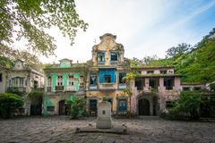 Historical 19th Century Colonial Buildings stock images