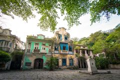 Historical 19th Century Colonial Buildings. Historical Colonial 19th Century Buildings at Largo do Boticario in Rio de Janeiro, Brazil stock photo