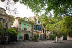 Historical 19th Century Colonial Buildings. Historical Colonial 19th Century Buildings at Largo do Boticario in Rio de Janeiro, Brazil stock photos