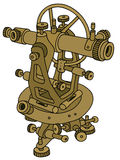 Historical theodolite. Hand drawing of a historical surveyor meter Royalty Free Stock Photography