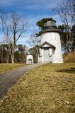 The historical Three Sisters Lighthouses on Cape Cod Massachusetts, New England.  royalty free stock image