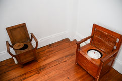 Historical toilets Stock Photography