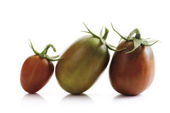 Historical tomatoes, Black Plum, close-up Royalty Free Stock Photo