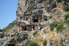 Historical tombs in the mountains Royalty Free Stock Image
