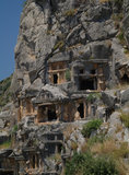 Historical tombs in the mountains Stock Image