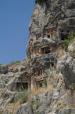 Historical tombs in the mountains Royalty Free Stock Photography