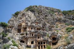 Historical tombs in the mountains Royalty Free Stock Images