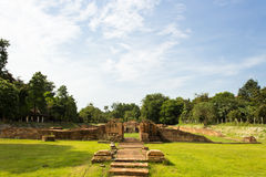Historical Tourist Attraction. Ancient Ruins at Wiang Kum Kam in Chiangmai Thailand Stock Photo
