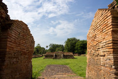Historical Tourist Attraction. Ancient Ruins at Wiang Kum Kam in Chiangmai Thailand Royalty Free Stock Photography